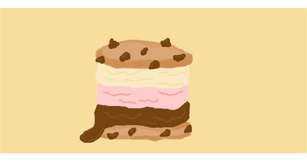 Ice cream drawing by Sorya