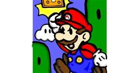 Super Mario drawing by SIREN