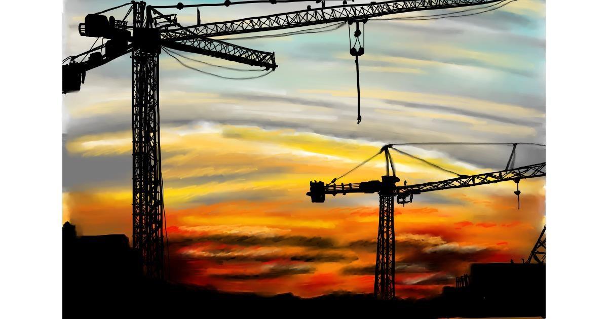 Drawing of Crane (machine) by RadiouChka