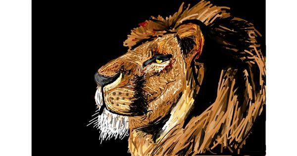 Lion drawing by Soaring Sunshine