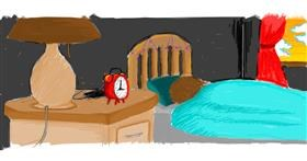 Alarm clock drawing by smol