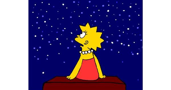 Lisa Simpson drawing by Cec