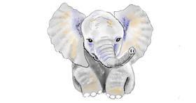 Elephant drawing by GJP