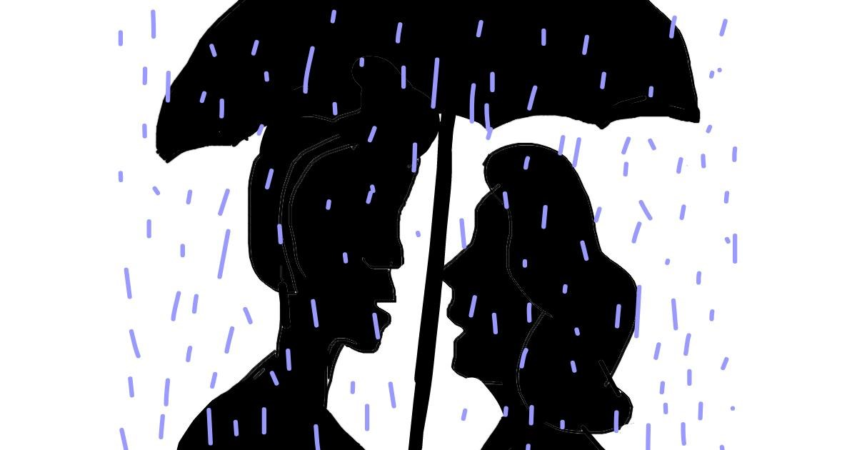 Rain drawing by Vicki