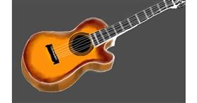 Drawing of Guitar by Tim