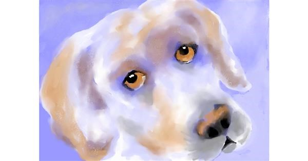 Dog drawing by Debidolittle