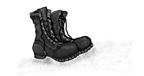 Boots drawing by Trapdoor