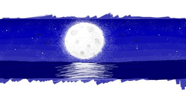 Moon drawing by butters