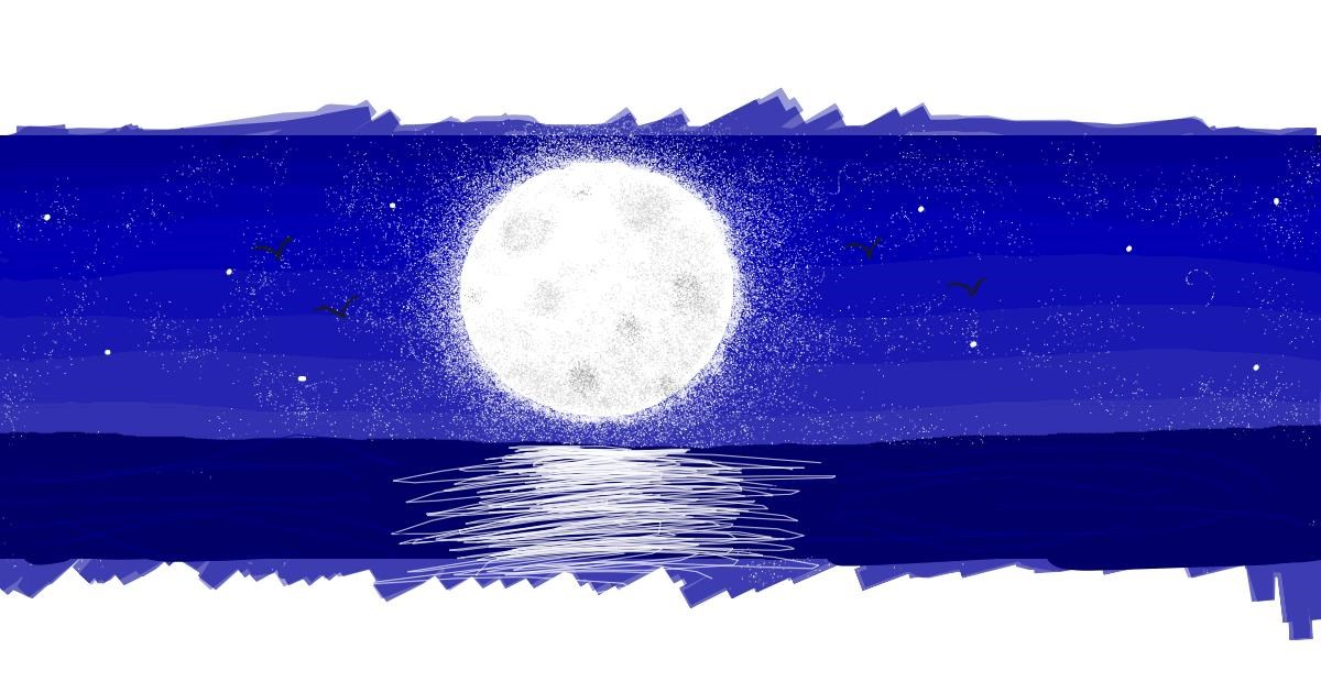 Drawing of Moon by butters