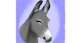 Donkey drawing by Emit