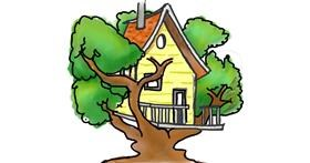Treehouse drawing by Prachi
