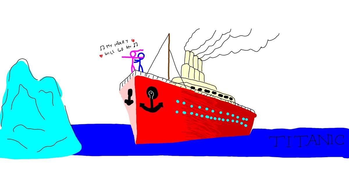 Boat drawing by EVA