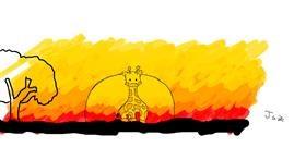 Drawing of Giraffe by Jaz