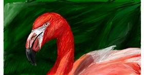 Flamingo drawing by Soaring Sunshine