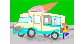 Drawing of Truck by Ava