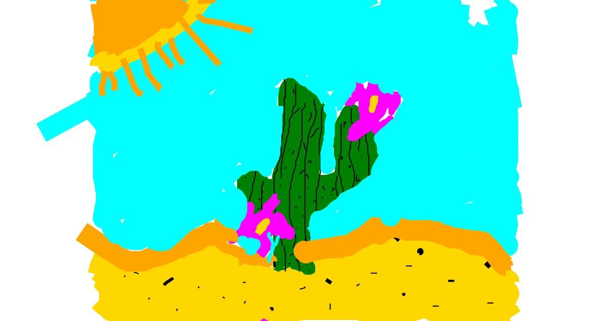 Cactus drawing by TIGER