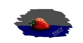Strawberry drawing by I am Period