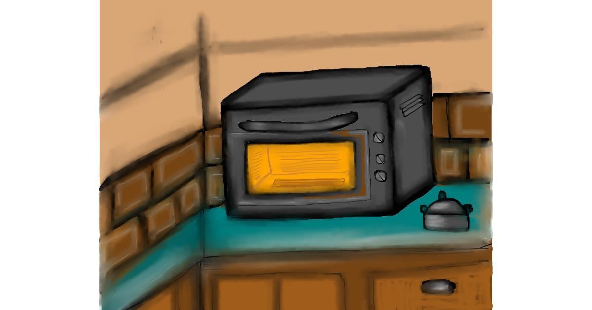 Microwave drawing by Jan