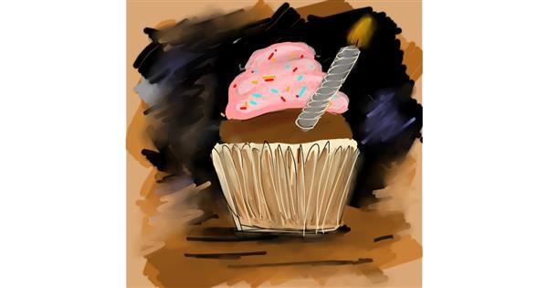 Birthday cake drawing by Manali