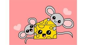 Drawing of Cheese by Laura:))