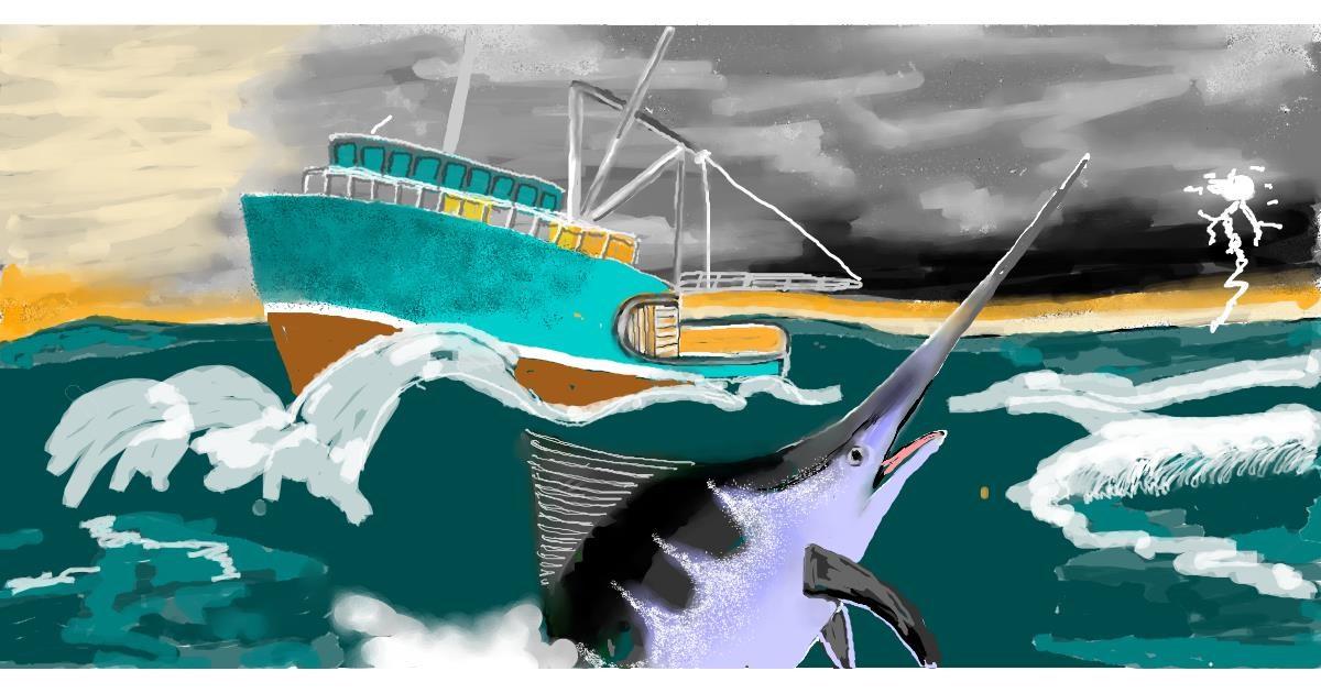Swordfish drawing by SAM AKA MARGARET 🙄