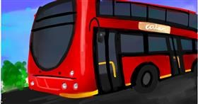 Drawing of Bus by Ryu
