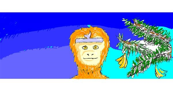 Monkey drawing by BUDDERlegacy