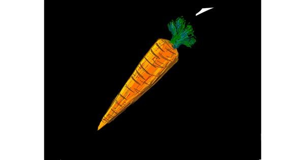 Carrot drawing by Tara