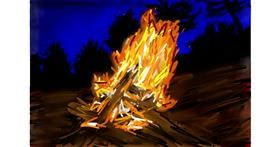 Campfire drawing by Soaring Sunshine