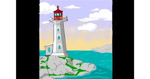 Lighthouse drawing by ThasMe13