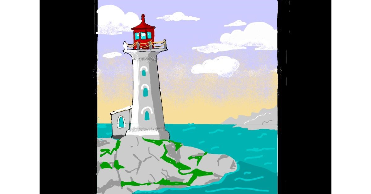 Drawing of Lighthouse by ThasMe13