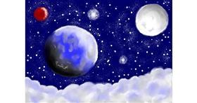 Planet drawing by Debidolittle
