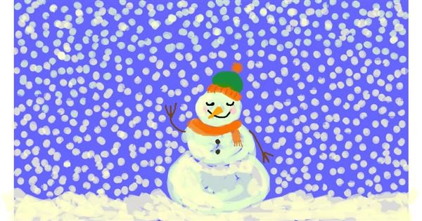 Snowman drawing by pho