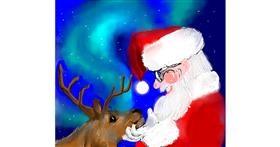 Santa Claus drawing by Kam
