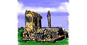 Drawing of Notre Dame by Dettale