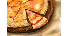 Pizza drawing by Soaring Sunshine