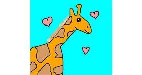 Giraffe drawing by AdiCat
