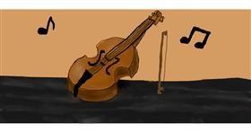 Drawing of Violin by luisa