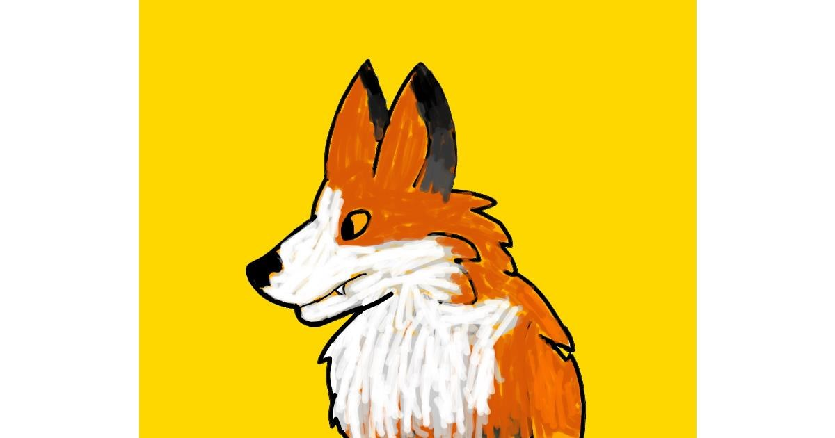 Fox drawing by Data