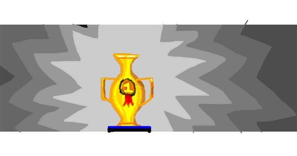 Trophy drawing by Drum