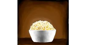 Drawing of Popcorn by Joze