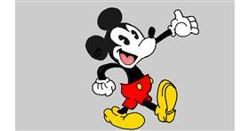 Drawing of Mickey Mouse by Tim