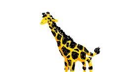 Drawing of Giraffe by bebo
