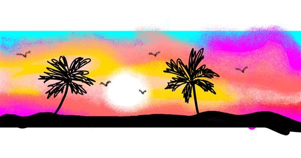 Palm tree drawing by butters
