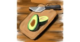 Drawing of Avocado by Meka