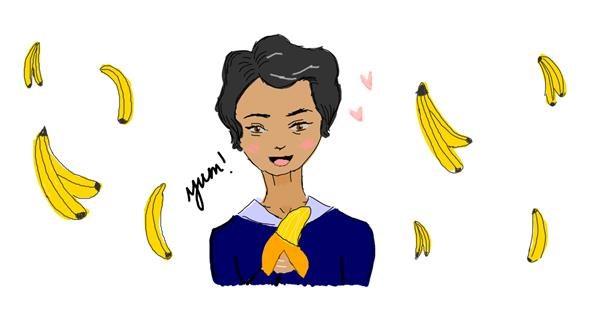 Banana drawing by potter