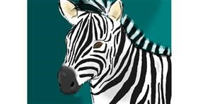 Zebra drawing by green