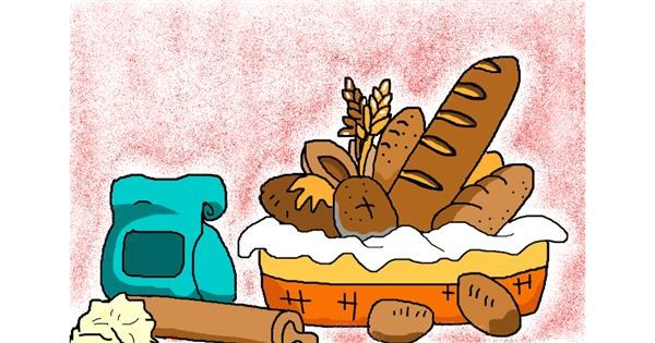 Bread drawing by InessaC