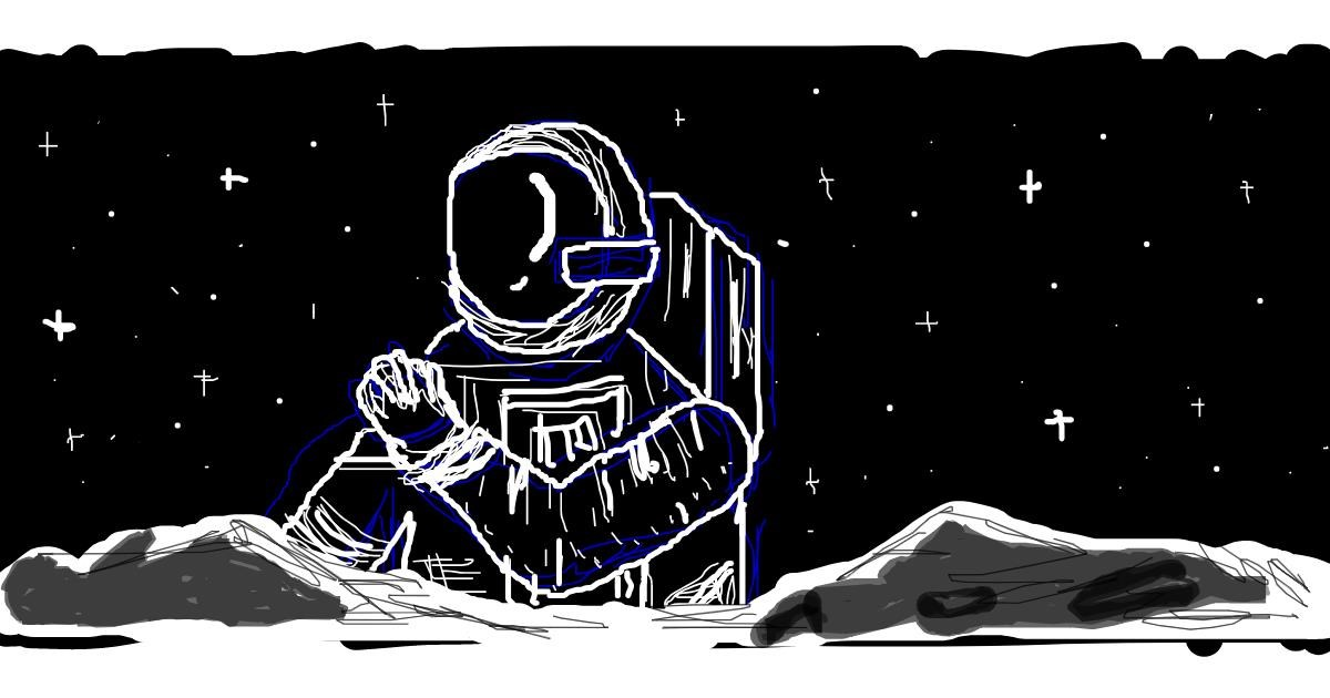 Astronaut drawing by CHOCOLATE LOVER