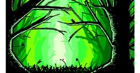 Drawing of Forest by Sam